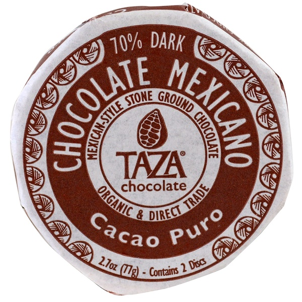 Taza Chocolate, Chocolate Mexicano, Cacao Puro, 2 Discs (Discontinued Item)