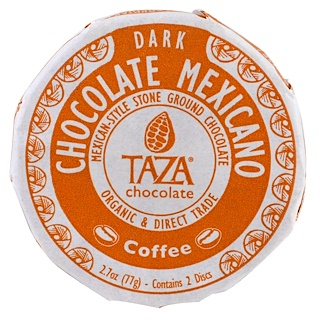 Taza Chocolate, شوكولا مكسيكية، القهوة، 2 قرصين