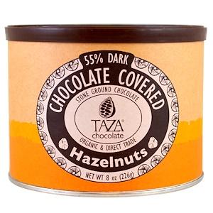 Таза Чоколат, Organic, 55% Dark Stone Ground Chocolate, Chocolate Covered Hazelnuts, 8 oz (226 g) отзывы