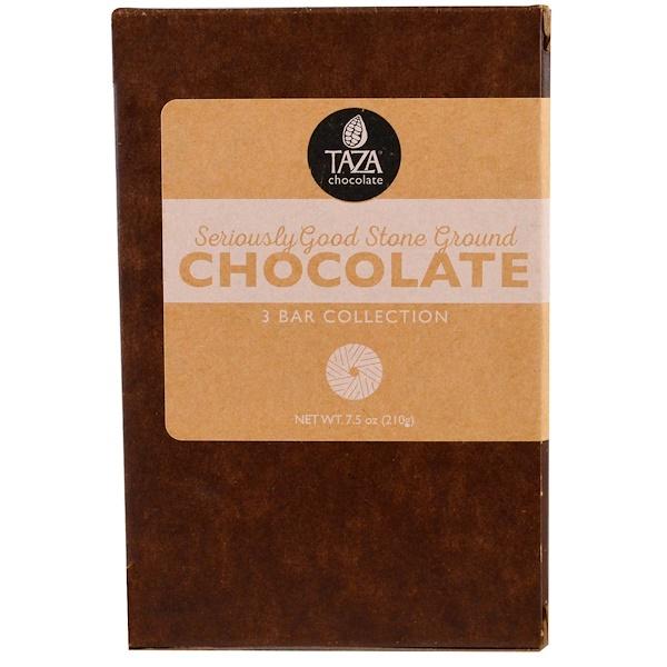 Taza Chocolate, 很棒的細磨有機巧克力,3根巧克力棒,每根2、5盎司