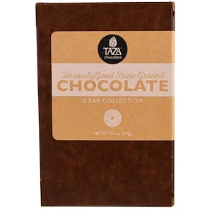 Таза Чоколат, Seriously Good Stone Ground Organic Chocolate, 3 Bar Collection, 2.5 oz Each отзывы