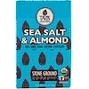 Taza Chocolate, Organic, 80% Dark Stone Ground Chocolate Bar, Sea Salt & Almond, 2.5 oz (70 g)
