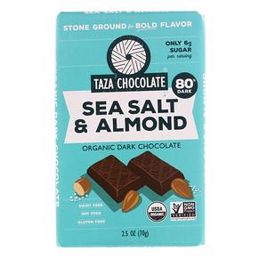 Таза Чоколат, Organic Dark Chocolate, Sea Salt & Almond, 2.5 oz (70 g) отзывы