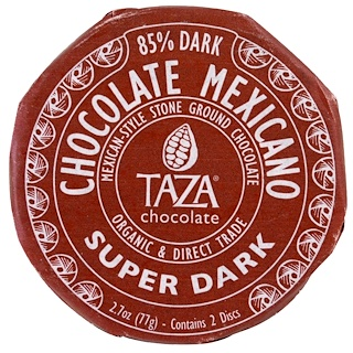 Taza Chocolate, Мексиканский шоколад, Супер-темный, 2 диска