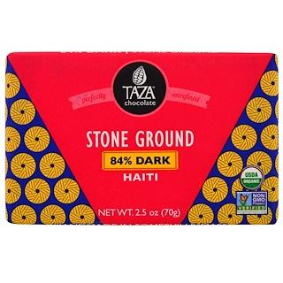 Taza Chocolate, Organic, 84% Dark Stone Ground Chocolate Bar, Haiti, 2.5 oz (70 g)