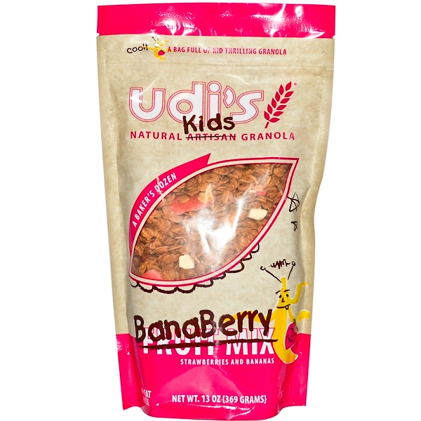 Udi's, Natural Kids Granola, BanaBerry, Strawberries and Bananas, 13 oz (369 g) (Discontinued Item)