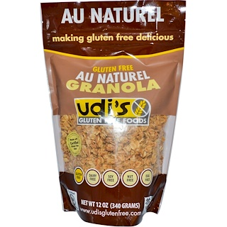 Udi's, Gluten Free Granola, Au Natural, 12 oz (340 g)