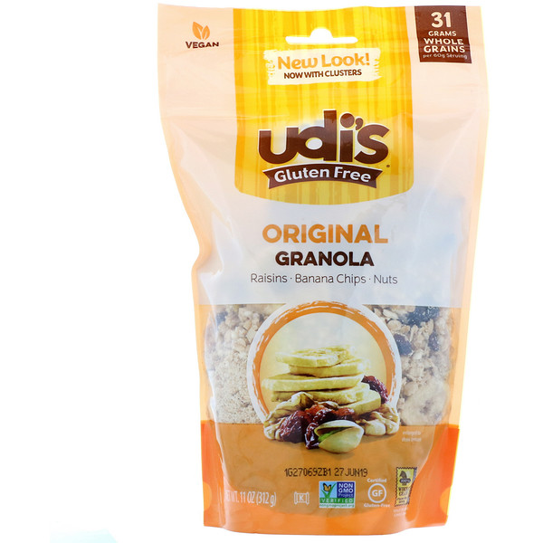 Udi's, グルテンフリー グラノーラ、 オリジナル、 11 oz (312 g) (Discontinued Item)