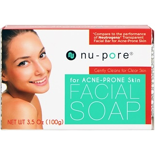 Nu-Pore, Facial Soap, for Acne-Prone Skin, 3.5 oz (100 g)