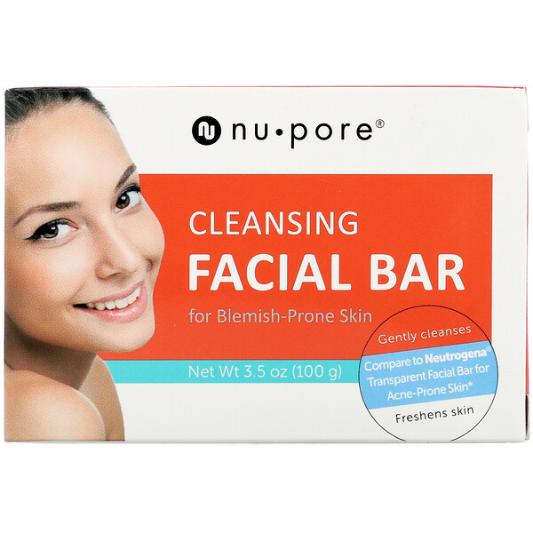 Nu-Pore, Cleansing Facial Bar for Blemish-Prone Skin, 3.5 oz (100 g)