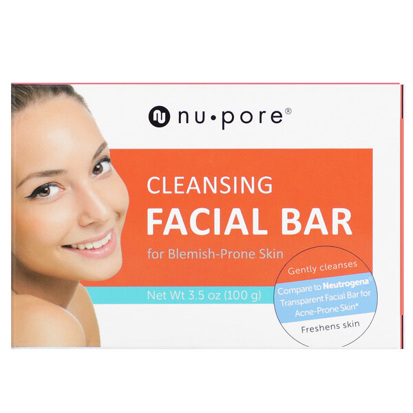 Cleansing Facial Bar for Blemish-Prone Skin, 3.5 oz (100 g)