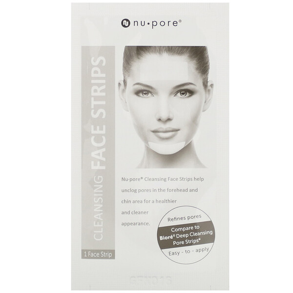 Nu-Pore, Face Cleansing Strips, 3 Strips (Discontinued Item)