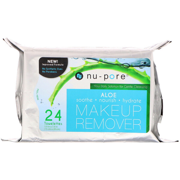 Aloe Makeup Remover, 24 Towelettes