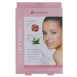 Юнайтэд Эксчэндж, Collagen Essence Face Mask Set, Pomegranate & Rosemary, 2 Single-Use Masks, 0.85 fl oz (25 g) Each отзывы покупателей