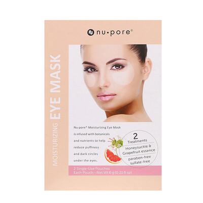Nu-Pore Moisturizing Eye Mask, 2 Single-Use Pouches, 6 g (0.21 fl oz) Each