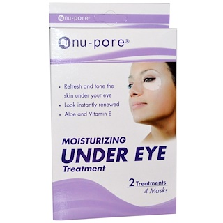 Nu-Pore, Moisturizing Under Eye Treatment, 4 Masks