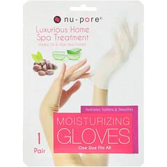 Nu-Pore, 保濕手套,荷荷巴油和蘆薈提取物,1 雙