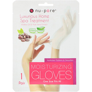 Nu-Pore, Moisturizing Gloves, Jojoba Oil & Aloe Vera Extract, 1 Pair