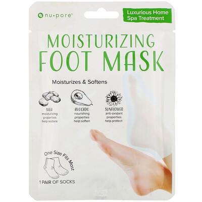 Купить Nu-Pore Moisturizing Foot Mask, 1 Pair