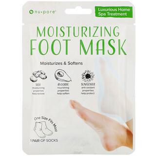 Nu-Pore, Увлажняющая маска для ног, 1пара