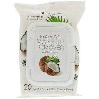 Nu-Pore, Removedor Hidratante de Maquillaje, Esencia de Coco, 20 toallitas