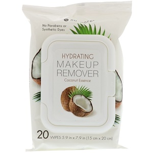 Юнайтэд Эксчэндж, Hydrating Makeup Remover, Coconut Essence, 20 Wipes отзывы покупателей