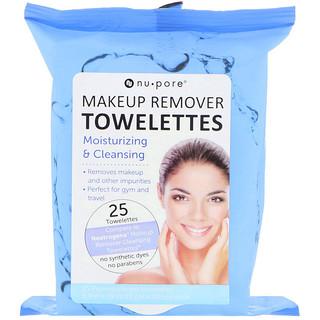 Nu-Pore, Makeup Remover Towelettes, 25 Towelettes