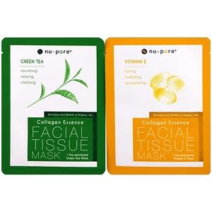 Юнайтэд Эксчэндж, Collagen Essence Face Mask Set, Vitamin E & Green Tea, 2 Single-Use Masks, 0.85 fl oz (25 g) Each отзывы