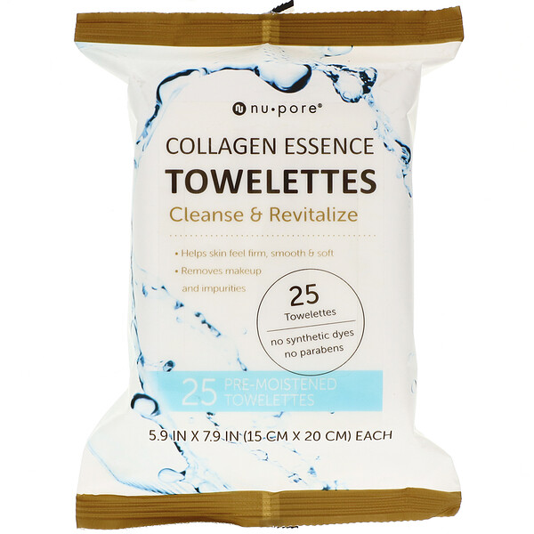 Nu-Pore, Collagen Essence Towelettes, 25 Towelettes