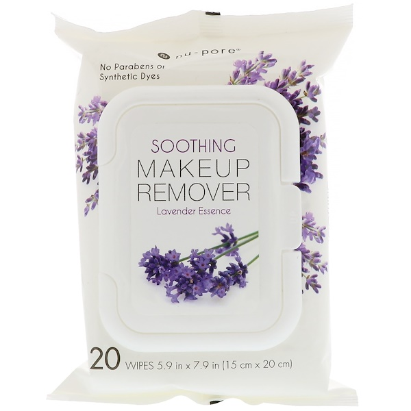 Nu-Pore, Soothing Makeup Remover, Lavender Essence, 20 Wipes (Discontinued Item)