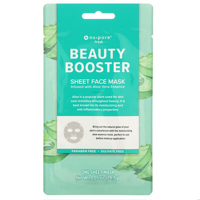Купить Nu-Pore Beauty Booster Sheet Mask, Aloe Vera, 1 Sheet