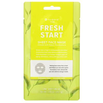 Купить Nu-Pore Fresh Start Sheet Mask, Green Tea, 1 Sheet