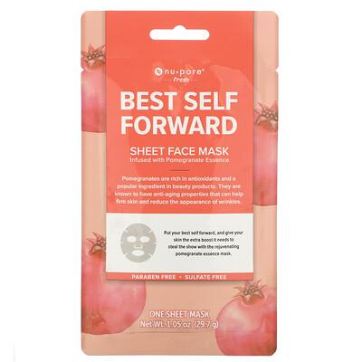 Купить Nu-Pore Best Self Forward Sheet Mask, Pomegranate, 1 Sheet