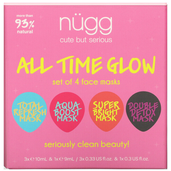 All Time Glow, Face Mask Set, 4 Masks