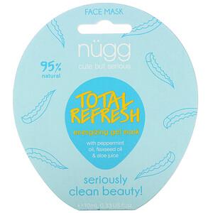 Nugg, Total Refresh Energizing Gel Mask, 0.33 fl oz (10 ml)