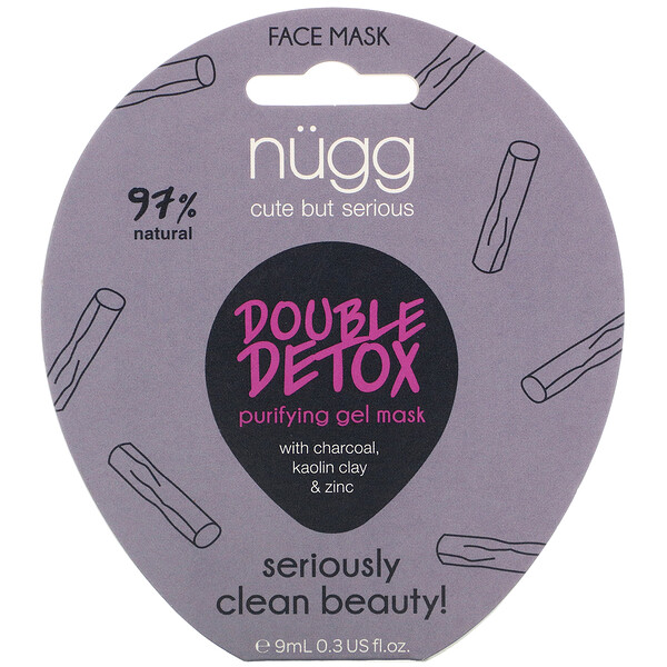 Double Detox Purifying Gel Mask, 0.3 fl oz (9 ml)