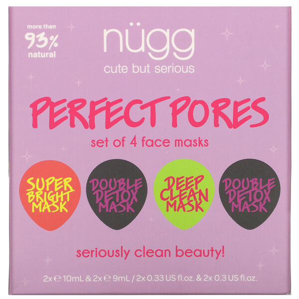 Perfect Pores, Face Mask Set, 4 Masks