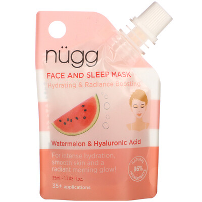 Купить Nugg Face and Sleep Mask, Watermelon & Hyaluronic Acid, 1.1 fl oz (35 ml)