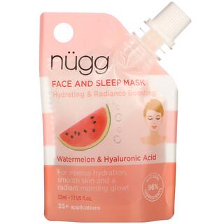 Nugg, Face and Sleep Mask, Watermelon & Hyaluronic Acid, 1.1 fl oz (35 ml)