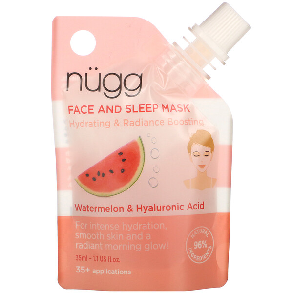 Face and Sleep Mask, Watermelon & Hyaluronic Acid, 1.1 fl oz (35 ml)