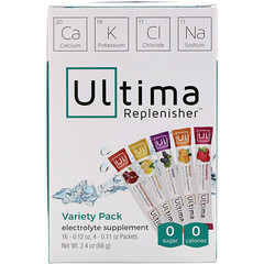 Ultima Replenisher, Electrolyte Supplement, Variety Pack, 20 Packets, 2.4 oz (68 g)