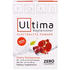 Ultima Replenisher, порошок электролитов со вкусом вишни и граната, 20 пакетиков, 0,12 унции (3,4 г)