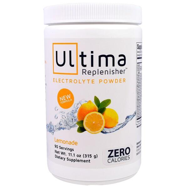 """Ultima Health Products, """"Предельный восполнитель"""", порошок электролитов со вкусом лимонада, 11,1 унции (315 г) (Discontinued Item)"""