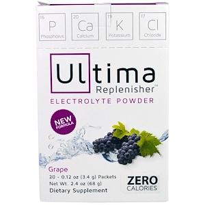 Ултима Хэлс Продуктс, Electrolye Powder, Grape, 20 Packets, 0.12 oz (3.4 g) отзывы