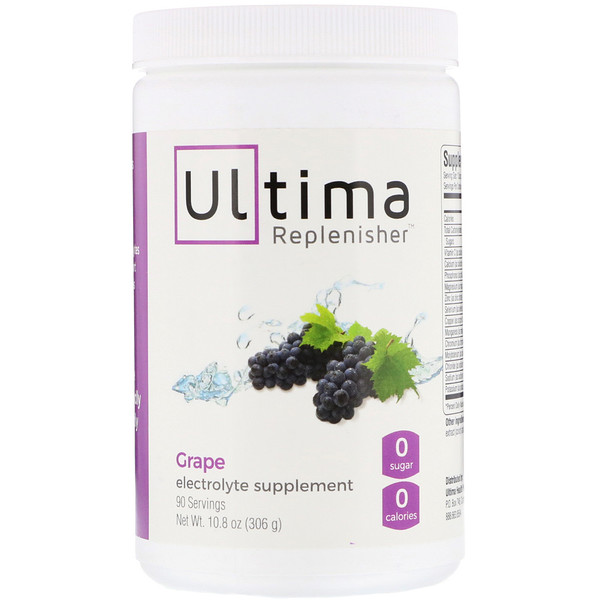 Ultima Replenisher, Polvo de electrolitos, uva, 10,8 oz (306 g)