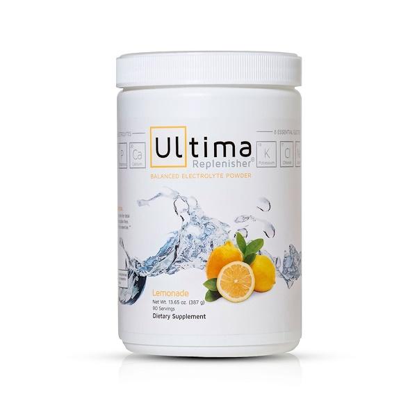 Ultima Replenisher, ウルティマ健康食品(Ultima Health Products), ウルティマ補充液, バランスのとれた電解液パウダー, レモネード, 13.65オンス(387 g) (Discontinued Item)