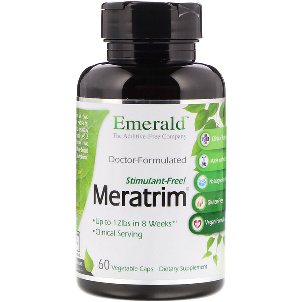 Meratrim, Stimulant Free, 800 mg, 60 Vegetable Caps