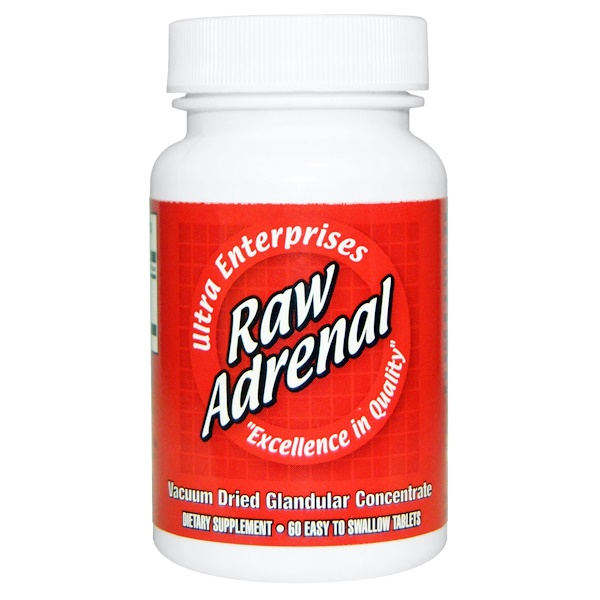 Ultra Enterprises, Raw Adrenal، 60 قرص سهل الابتلاع (Discontinued Item)