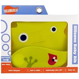 Ulubulu, Silicone Baby Bib, Frog, 1 Piece