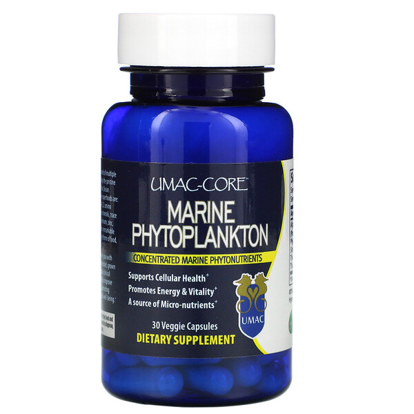 Umac-Core, Marine Phytoplankton, 30 Veggie Capsules
